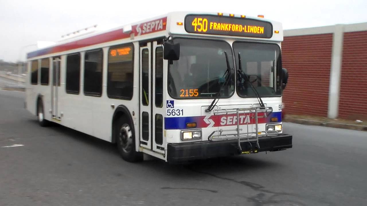 Septa Bus New Flyer D40lf 5631 On Route 450 Youtube