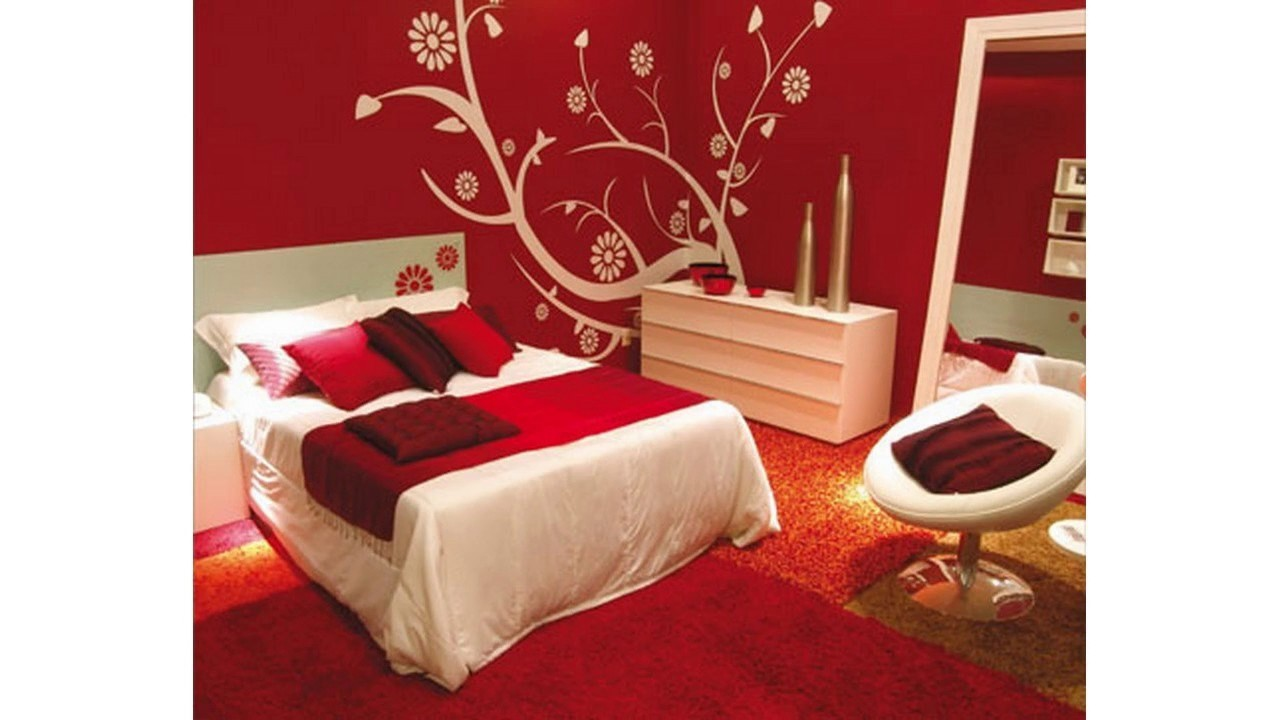 Rojo y blanco dormitorio ideas youtube - Papel pintado rojo y blanco ...