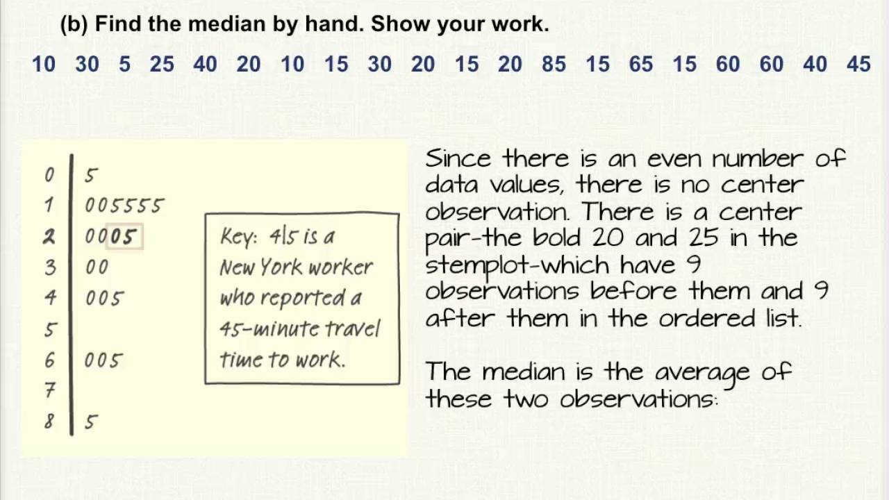 How To Find The Median If There Is 2 Numbers By Thomas B Allen When Using