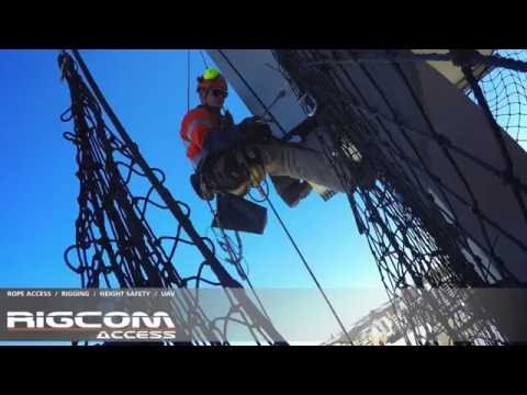 Rope Access installation of Safety Netting