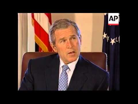 USA: GEORGE W BUSH: FIRST FULL WORKING DAY AT WHITE HOUSE
