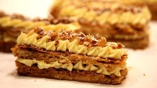 How to make Napoleon pastry - Mille Feuille - Торт Наполеон - Heghineh Cooking Show