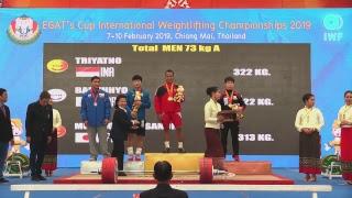 EGAT's Cup INTERNATIONAL WEIGHTLIFTING CHAMPIONSHIPS 2019 MEN 67 kg A , 73 kg A