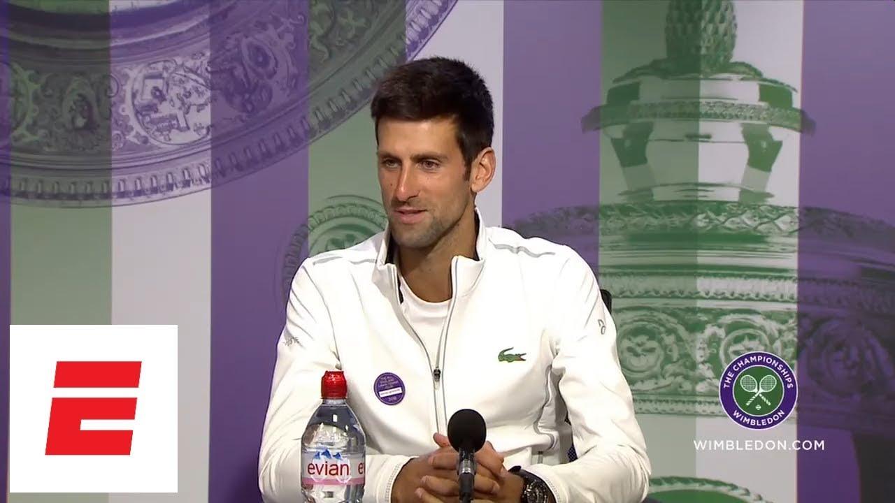 [FULL] Novak Djokovic post final Wimbledon 2018 press conference | ESPN