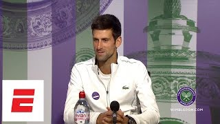 [FULL] Novak Djokovic post final Wimbledon 2018 press conference | ESPN