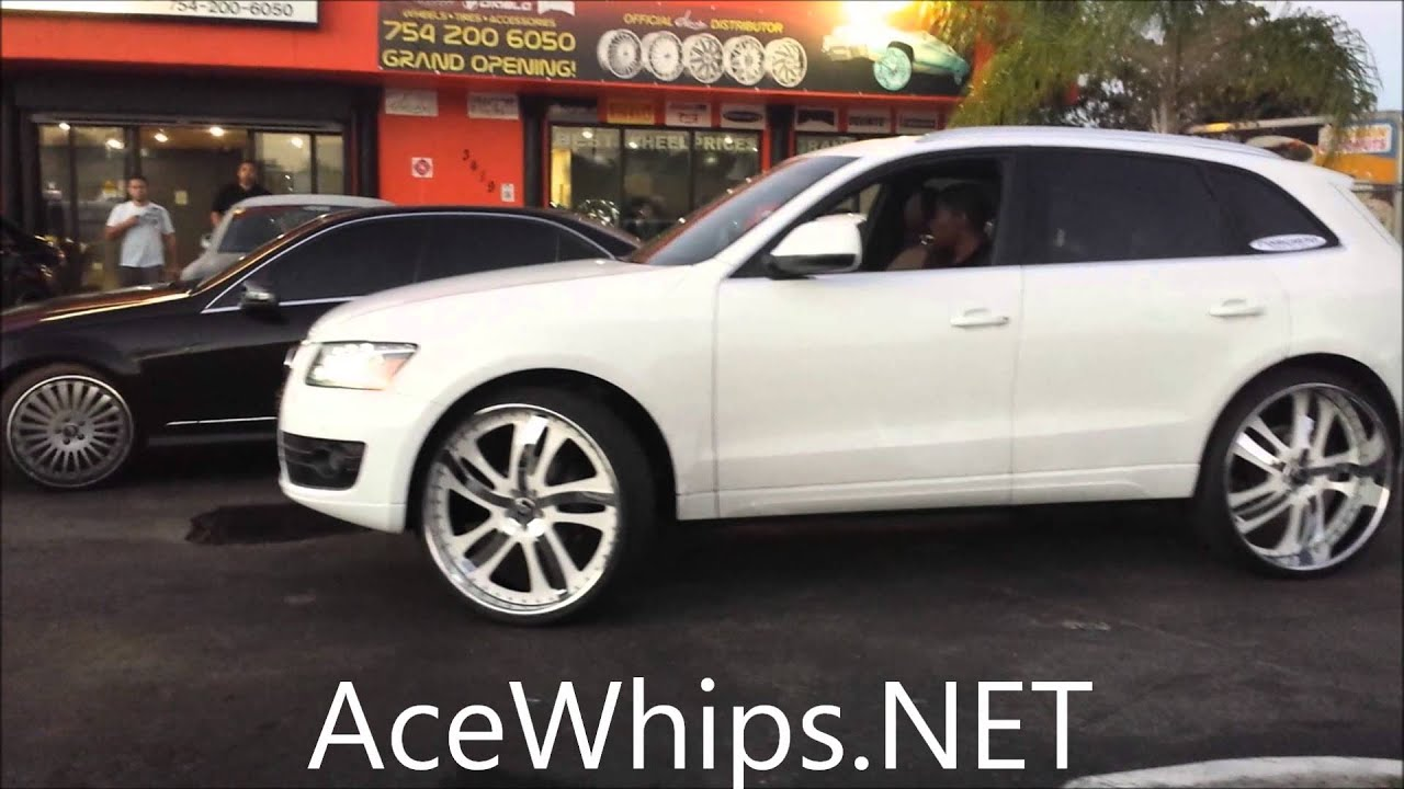 Acewhips Net White 2012 Audi Q5 On 26 Quot Forgiatos By Wtw Customs Youtube