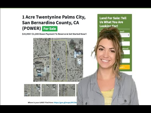1 Acre 29 Palms City Property (WITH POWER)  in San Bernardino County, CA
