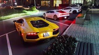 Lamborghini Aventador Vàng tái xuất cùng bộ đôi Lamborghini chính hãng | XSX