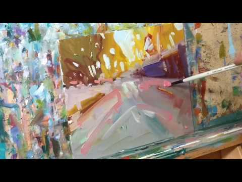 Modern Oil Painting Landscape Demo / Session by Artist Jose Trujillo