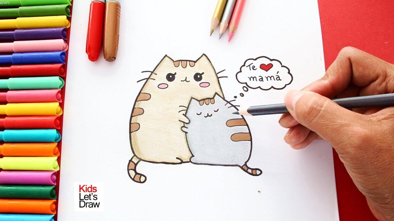 Dibujo Para Hacer Por El Día De La Madre Mensaje Te Amo Mama