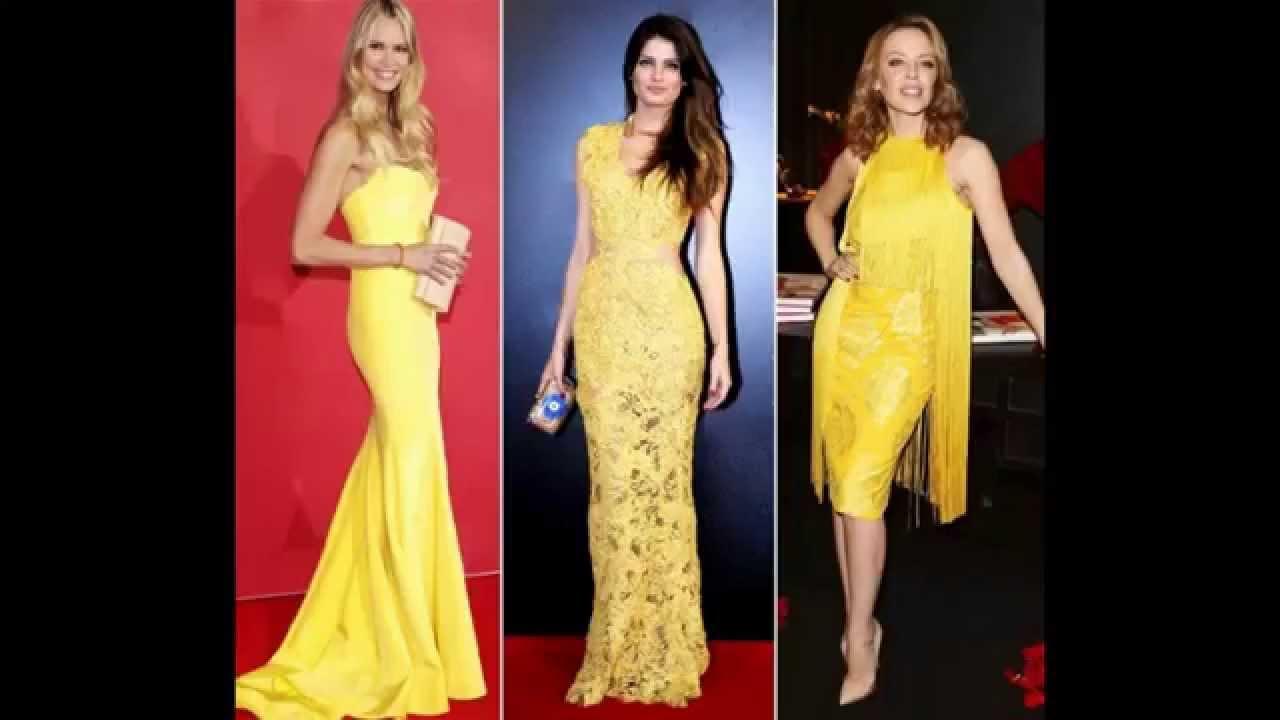 Vestido de renda longo amarelo como usar youtube thecheapjerseys Choice Image