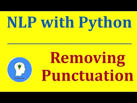 NLP with Python]: Removing Punctuation | Pre-processing - YouTube