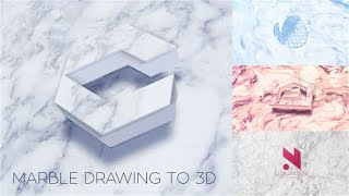 Marble Drawing To 3D Reveals