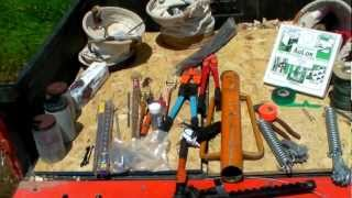 Orchard Diary 6/10/2012: Trellis Installation Tools & Tips