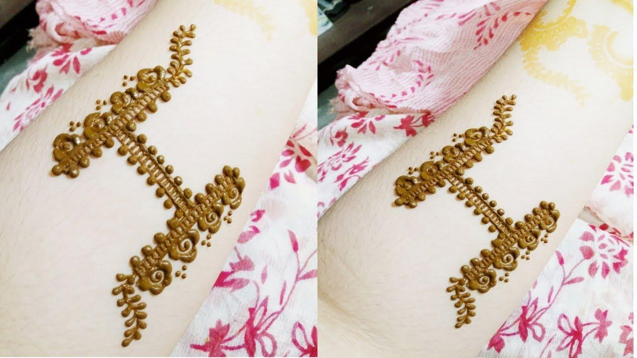 Henna Tattoo Alphabet: Beautiful Tattoo Mehndi Design