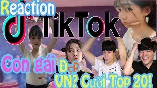 TikTok Recation Người Hàn Quốc l Con gái đẹp Việt Nam? Cười Top 20! l JBros