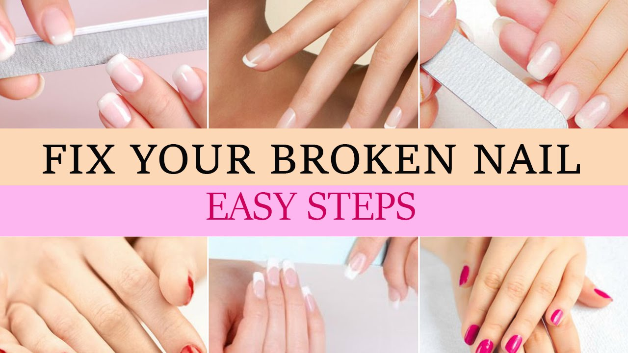 How to Fix a Broken Nail? Easy Broken Nail Repair - YouTube