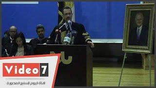 أحمد درويش يشهد حفل تخرج دفعة من خريجى جامعة النيل وينصحهم بالمثابرة