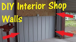 DIY Corrugated Metal And Plywood Interior Walls for Metal Building | Workshop