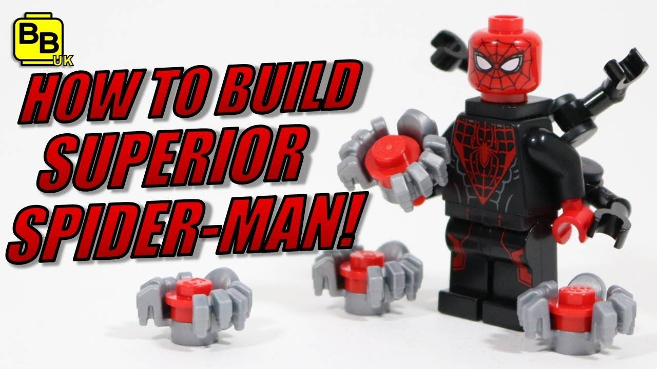 Aninimal Book: HOW TO BUILD LEGO SUPERIOR SPIDER-MAN MINIFIGURE CREATION ...