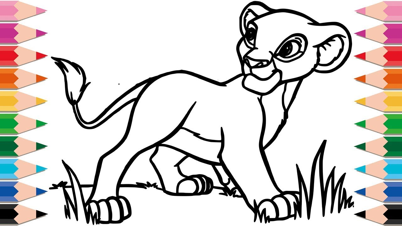 How to Draw The Lion King Coloring Pages Drawing and Learn ...