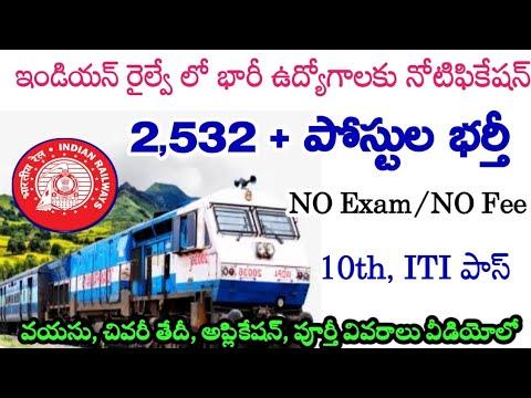 Railway Job Recruitment 2021||Railway Job Notification||Application Process In Telugu
