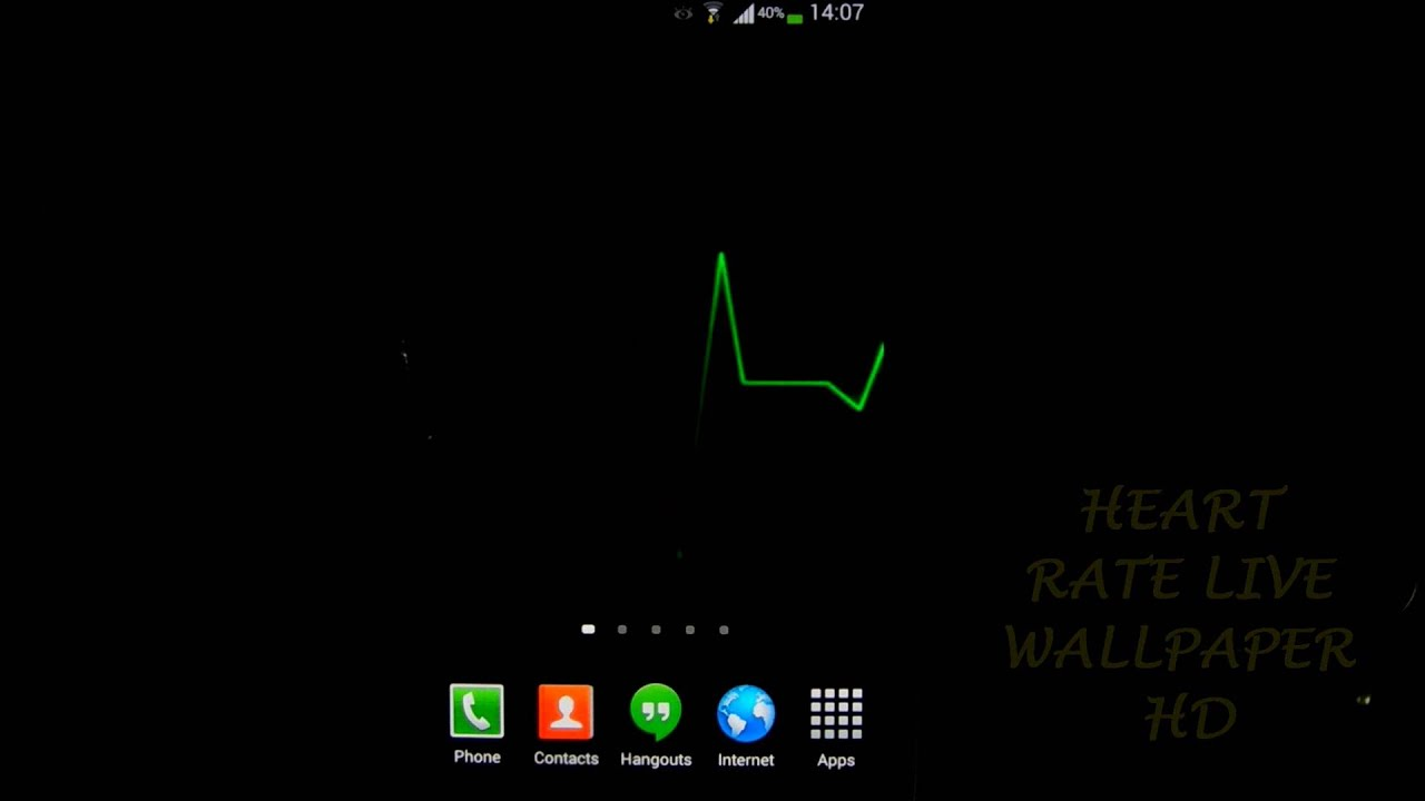 Heart Rate Live Wallpaper HD