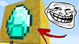 Minecraft CUBÃO : TROLL DIAMANTE INFINITO !! (MINECRAFT TROLL)