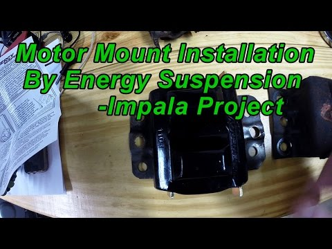 Impala Project: LT1 Energy Suspension Motor Mount Installation