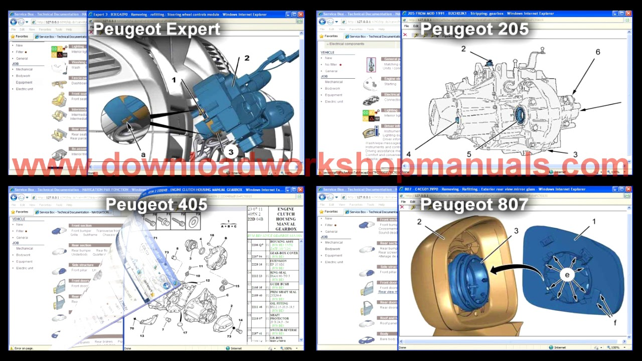 peugeot 807 wiring diagram download peugeot service repair workshop manual youtube  peugeot service repair workshop manual