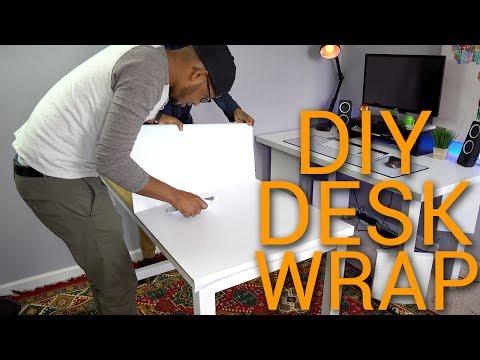 diy-desk-vinyl-wrap-2017-|-oracal-651-matte-white-vinyl