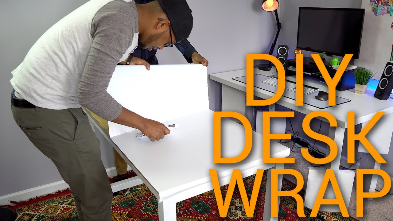 Diy Desk Vinyl Wrap 2017 Oracal 651 Matte White Vinyl