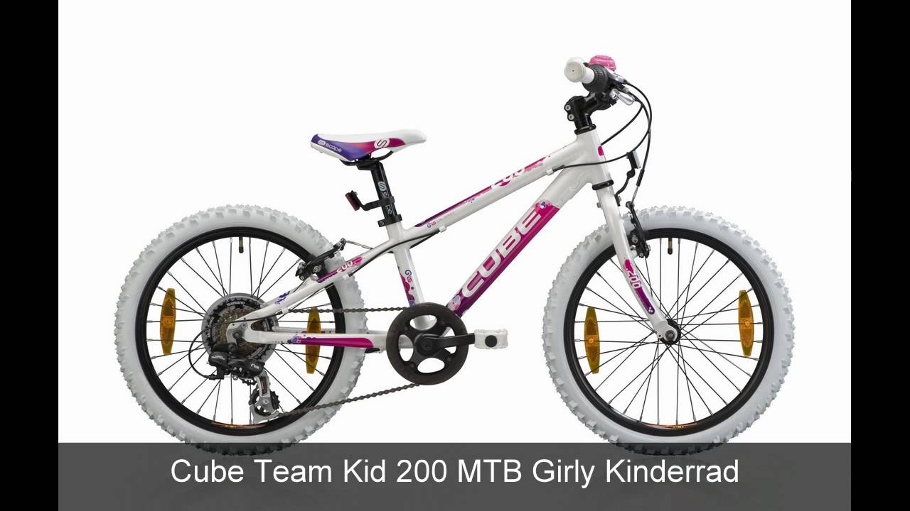 cube team kid 200 mtb girly kinderrad youtube. Black Bedroom Furniture Sets. Home Design Ideas