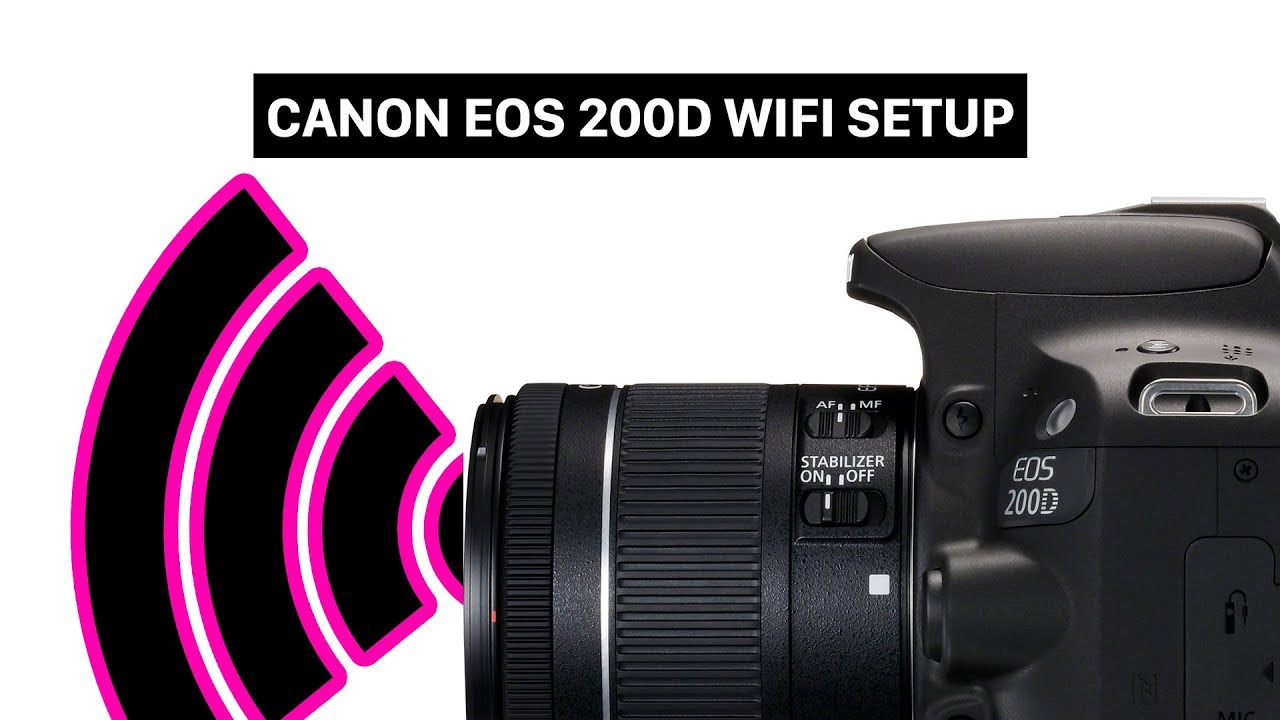 Canon EOS 200D | Rebel SL2 WIFI SETUP | connect your smartphone with your  camera