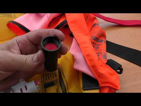 Servicing and re-arming an inflatable PFD (lifejacket)