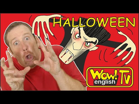 Halloween Spooky Party for Kids from Steve and Maggie | Halloween Songs and Stories Wow English TV