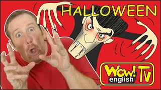 Spooky Halloween Party for Kids from Steve and Maggie | Halloween Songs and Stories Wow English TV
