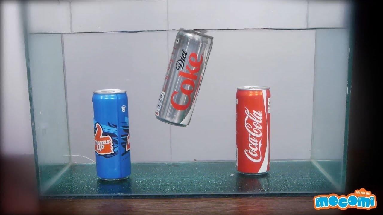 lesson plan coke and diet coke in water