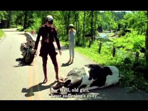 Me Myself And Irene Funny Scene Cow Is Not Dead Youtube