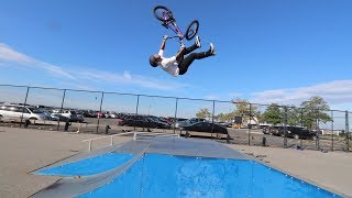 BACKFLIP TAIL WHIP OVER THE SMALLEST RAMP!