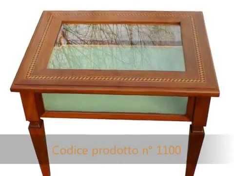 Produzione realizzazione di tavolini da salotto su misura classici in stile -...