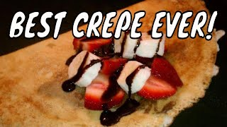 Best Homemade Crepes With Strawberries, Bananas, Chocolate And Whipped Cream