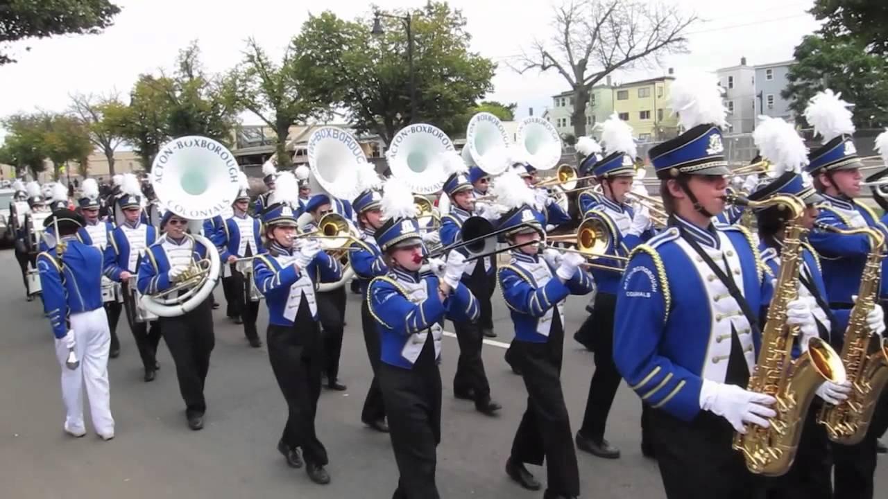 Boston Columbus Day Parade 2012 - AB Marching Band - YouTube