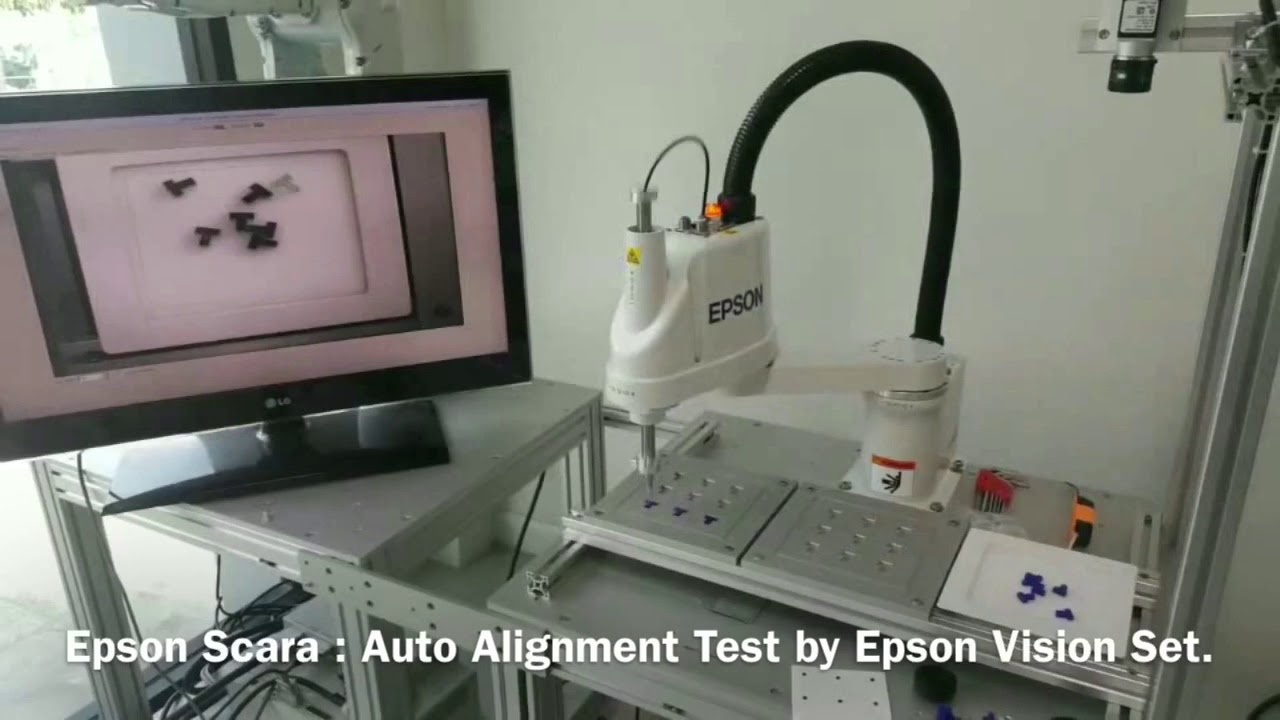 Epson Scara Robot Ls3 Test With Vision System By Chodchung