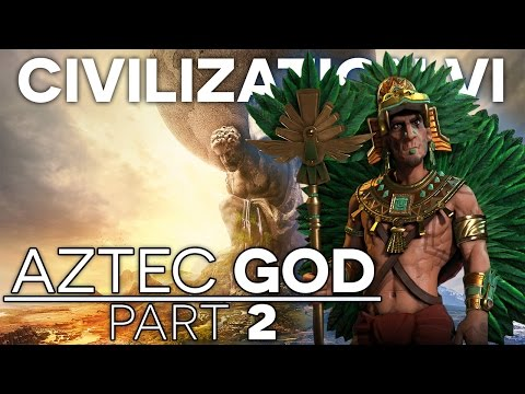 CIVILIZATION VI - Let's Play Aztec Gameplay - Part 2 - Settlers, Hanging Gardens!