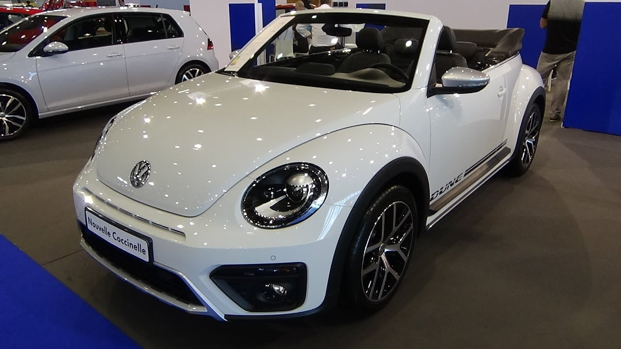 2018 volkswagen beetle convertible exterior interior salon automobile lyon 2017 youtube. Black Bedroom Furniture Sets. Home Design Ideas