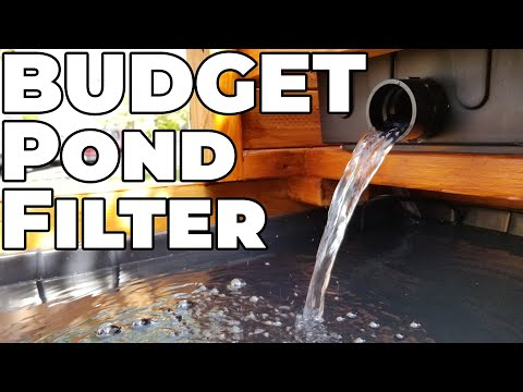How To Build A Waterfall Pond Filter On A Budget!!! | Pond Build Part 2