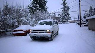 Everett WA Snow walk 01/19/2012