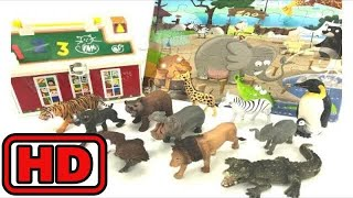 Kid -Kids -ZOO Animal Puzzle Game/Learn Names Of Animals/Lot of Animal toys/jungle story time