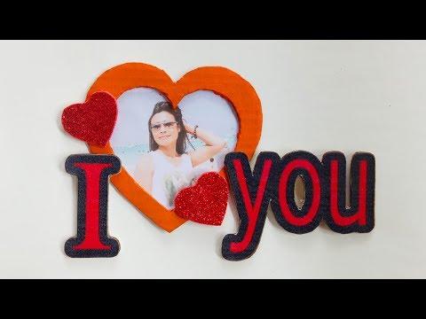 DIY Love Photo Frame/ DIY Cardboard Photo Frame/ How To Make Photo Frame At Home